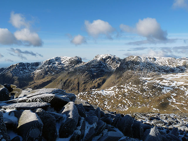 The Scafell range from Bowfell.