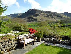 Garden, cottages, Great Langdale